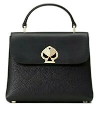 KATE SPADE NEW YORK ❤ Romy Mini Top Handle Satchel Black/Gold