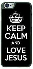 Keep Calm and Love Jesus Design Phone Case Cover For iPhone Samsung LG Google