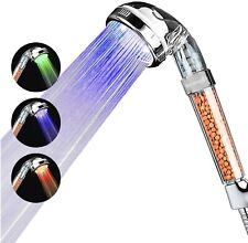 Renewgoo LED Color-changing Shower Head High Pressure Filter Eco-friendly Lights