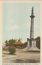"*Canada Postcard-""Monument des Braves"" -of The Brave- /Quebec/ (U1-CAN8)"