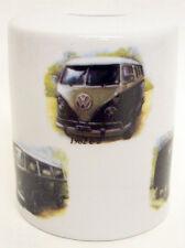 Camper Vans Money Box Porcelain Camper Vans Money Box Hand Decorated in the UK