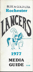 1977 Rochester Lancers Media Guide