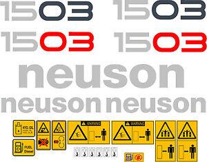 NEUSON 1503 DIGGER DECALS STICKER SET