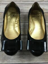 Kate Spade Women's Felice Patent Leather Black Career Bow Ballet Flats Sz 10M