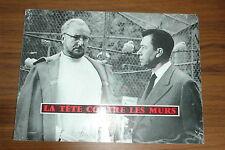 PIERRE BRASSEUR PAUL MEURISSE LA TETE CONTRE LES MURS 1959 RARE SYNOPSIS