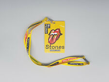 Rolling Stones Original No Filter Tour Pass with laynard Europe 2018
