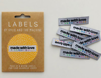 """ Made with LOVE & Swearwords ""  Sew In Woven Tags Clothing Labels pk of 8 KATM"