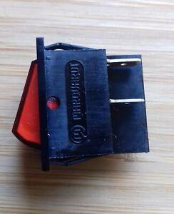 rocker switch Red 240v DPST x 2