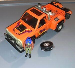 1985 Kenner MASK Firecracker pick up truck-near complete w/driver-M.A.S.K.