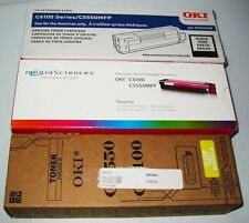 oki 43324420 black,clearcase magenta,gen. yellow all sealed for oki c5550,c6100