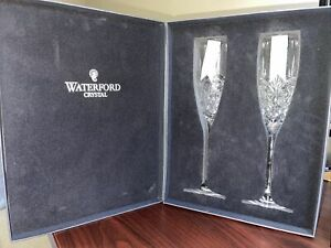 Waterford CRYSTAL 40003418 Waterford Love Forever Flute Pair