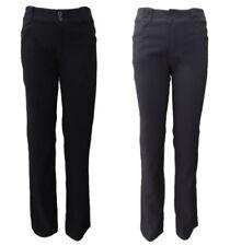 Straight Leg Cotton Dress Pants for Women