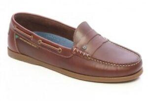 Dubarry Leeward Moccasin Fast Dry Water Resistant Deck Shoe Chestnut Brown