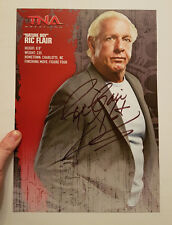 Nature Boy Ric Flair HAND SIGNED 16x page from TNA tour souvenir book WWE WWF