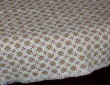 Vintage Feed Sack Feedbag Doll clothes / Quilt fabric Tiny Yellow Peachy Print