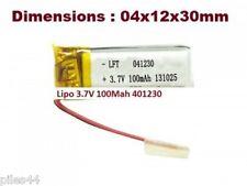 1 Accu Batterie Li-po 3.7V 1S 100mAh 401230 Lipo Battery 041230