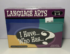 "Language Arts Interactive Game Cards ""I Have.Who Has.?� Teacher Created Nib"
