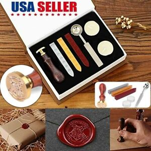 Wax Kit Seal Stamp Alphabet Initial Letter Vintage Personalized Valentine's Gift