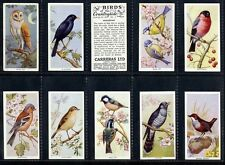 Full Set, Carreras, Birds of the Countryside 1939 VG-EX (Gq912-337)