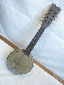 Vintage Banjo Ukulele Mandolin Musical Folk Instrument Banjolele Banjolin Ule