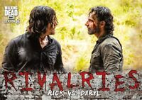 Walking Dead Season 8 Part 1 RIVALRIES Insert Card R-4 / RICK VS. DARYL