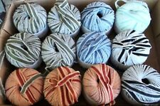 Ribbon Yarn 12  Skeins GGH Celine Made in Italy 50 Gram Balls 5 Colors