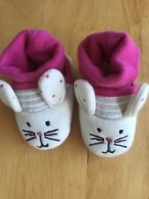 Baby Girl Joules Mouse Booties 0-6