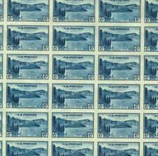 #761 6¢ PARKS CRATER LAKE IMPERF FULL MINT SHEET OF 50 NO GUM AS ISSUED