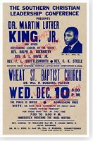 1958 Martin Luther King Jr. Speech Wheat Street Baptist Church Poster