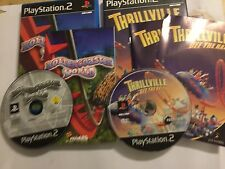 2x PLAYSTATION 2 PS2 GAMES THRILLVILLE OFF THE RAILS + ROLLERCOASTER WORLD