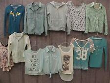 Big 20 Pc Estate Clothing Lot Womens S-M Green Blue Tops Shirts Name Brands