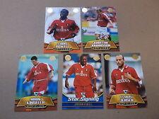 CHARLTON ATHLETIC  FC  TOPPS PREMIER  GOLD 2002 SET OF 5 CARDS
