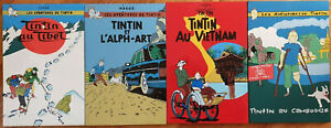 Four Herge Tin Tin Lacquer Wall Hangings  / Pictures