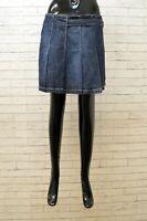 Gonna Ragazza Burberry Taglia 14 Anni Cotone Blu Girl Short Cotton Minigonna