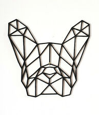 Geometric Wall Art French Bulldog Frenchy Frenchie Love Dog Animal Pet Home UK