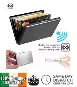 Ultra Thin Aluminum Metal Wallet RFID Blocking Credit Card Holder for Men Women