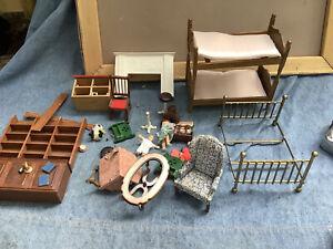 vintage assorted dollhouse furniture