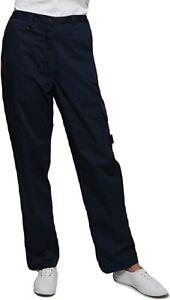 Womens Cargo Combat Work Trousers Ladies Premium Trousers Size UK 16