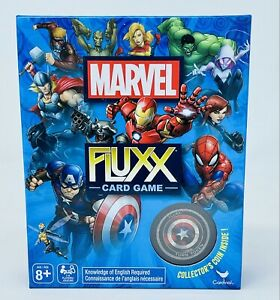 Marvel Comics Fluxx Card Game by Spinmaster w/Captain America Collector Coin NEW