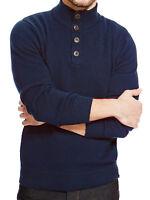 EX M&S BLUE HARBOUR PURE COTTON NAVY SWEATER JUMPER FUNNEL NECK M,XXL  FREE P&P