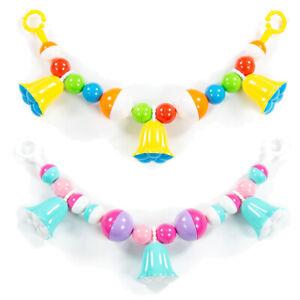WADER Kinderwagenkette Rasselkette Baby Spielzeug Kinderschale Glockenblume 51cm