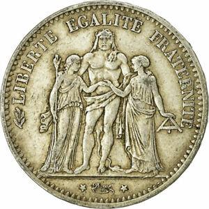 [#732138] Coin, France, Hercule, 5 Francs, 1875, Paris, VF(30-35), Silver