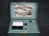 Pair of Vintage A.B. Dick Company M-650-G1 Toner Density Testers in Metal Case