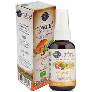 Vitamin C Spray Garden of Life Mykind Organic 58ml Vegan Non-GMO Gluten Free