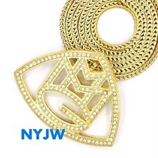 """ICED OUT MMG MUSIC GROUP RICK ROSS WALE MEEK MILL PENDANT W/ 36"""" CHAIN #MMG01G"""