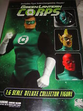 "DC DIRECT GREEN LANTERN CORPS w/ 4 HEADS 13"" DELUXE COLLECTOR FIGURE 1/6 SCALE"