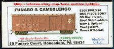 Funaro F&C 8200  PENNSYLVANIA  X26 Boxcar  PRR Youngstown Doors Hutch Roof  1-PC