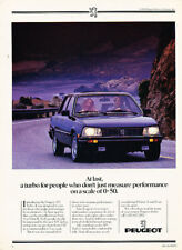 1985 Peugeot 505 Turbo Classic Advertisement Ad P67