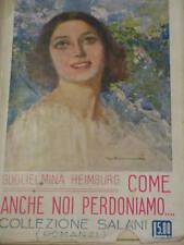 G.HEIMBURG - COME ANCHE NOI PERDONIAMO... 1928