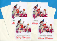 SCOTTISH TERRIER GIRL & DOLL PACK OF 4 CARDS DOG PRINT GREETING CHRISTMAS CARDS